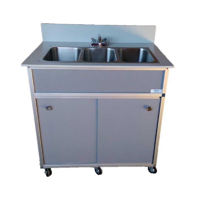 Monsam NSF Three Basin Self Contained Portable Sink