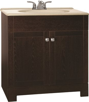 PSE-011W Dark Wood Portable Sink by Monsam