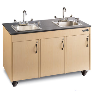 Portable Child Height Double Basin Lil' Deluxe Sink -  Ozark River CHDXM-HD-SS1N