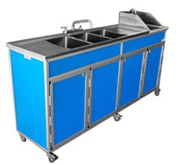 Monsam Nsf 4 Basin Self Contained Utensil Washing Sink W