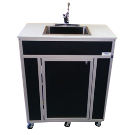 "Monsam NSF Portable Sink 39 inch Height  with 10"" Deep Basin"