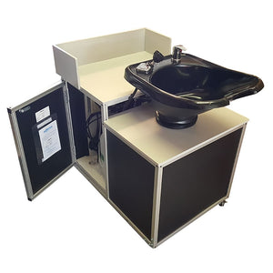 Portable Shampoo Sink - Tilt Mechanism and Black Ceramic Bowl by Monsam