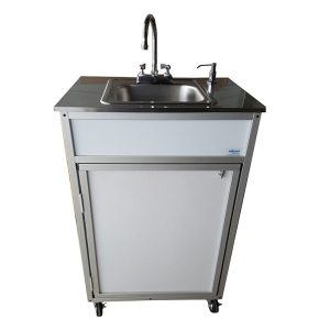 Monsam Single Basin Portable Sink with Stainless Steel Top