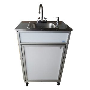 Single Basin Portable Sink with Stainless Steel Top