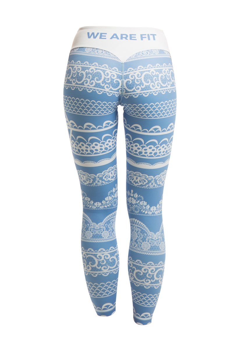 LACEUP BLUE TIGHTS