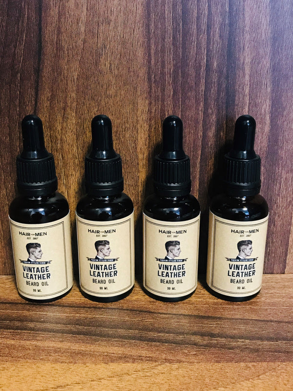 Hair for Men Vintage Leather Beard Oil 30ml