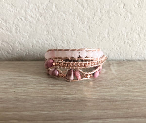 Rose Gold Leather Wrap