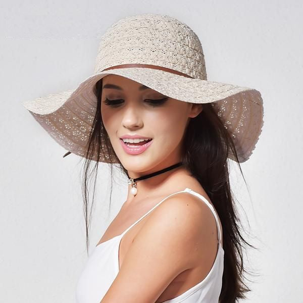 Cotton Floppy Sun Hat - Brimmed