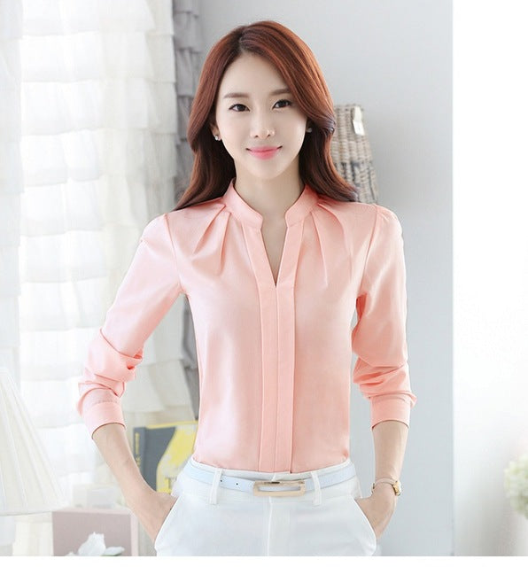 Business or Formal Chiffon Blouse -S-XL