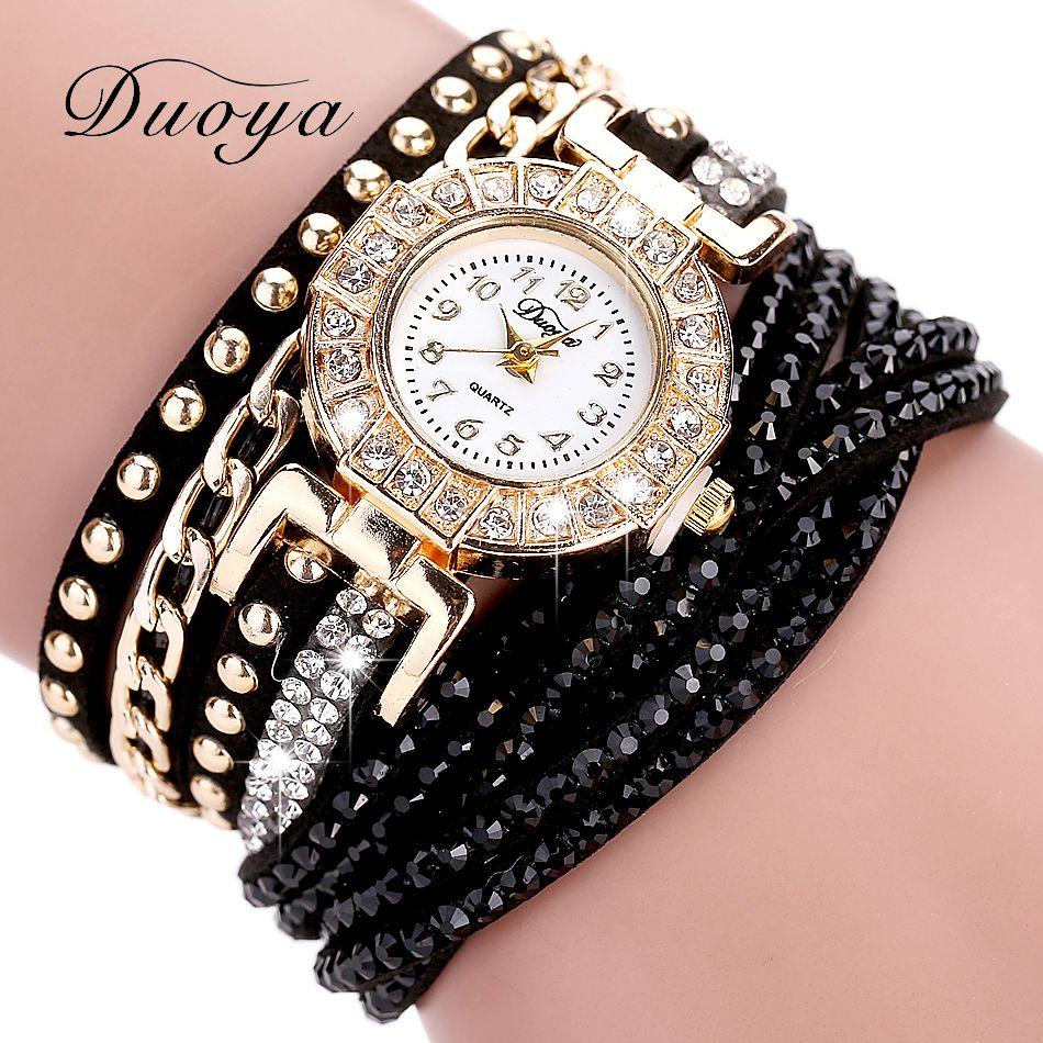 Crystal Rhinestone Bracelet Watch - 11 Colour Styles
