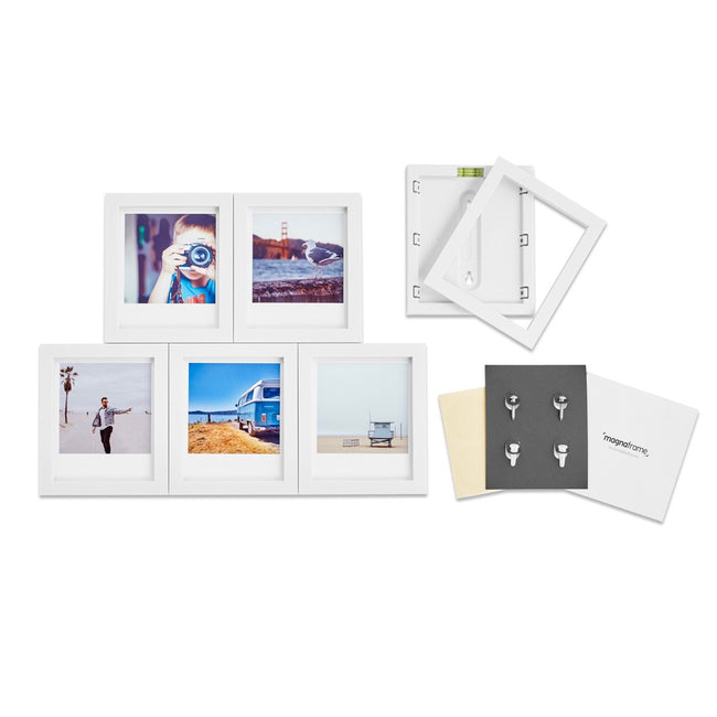 magnaframe - polaroid originals - 6-pack - white