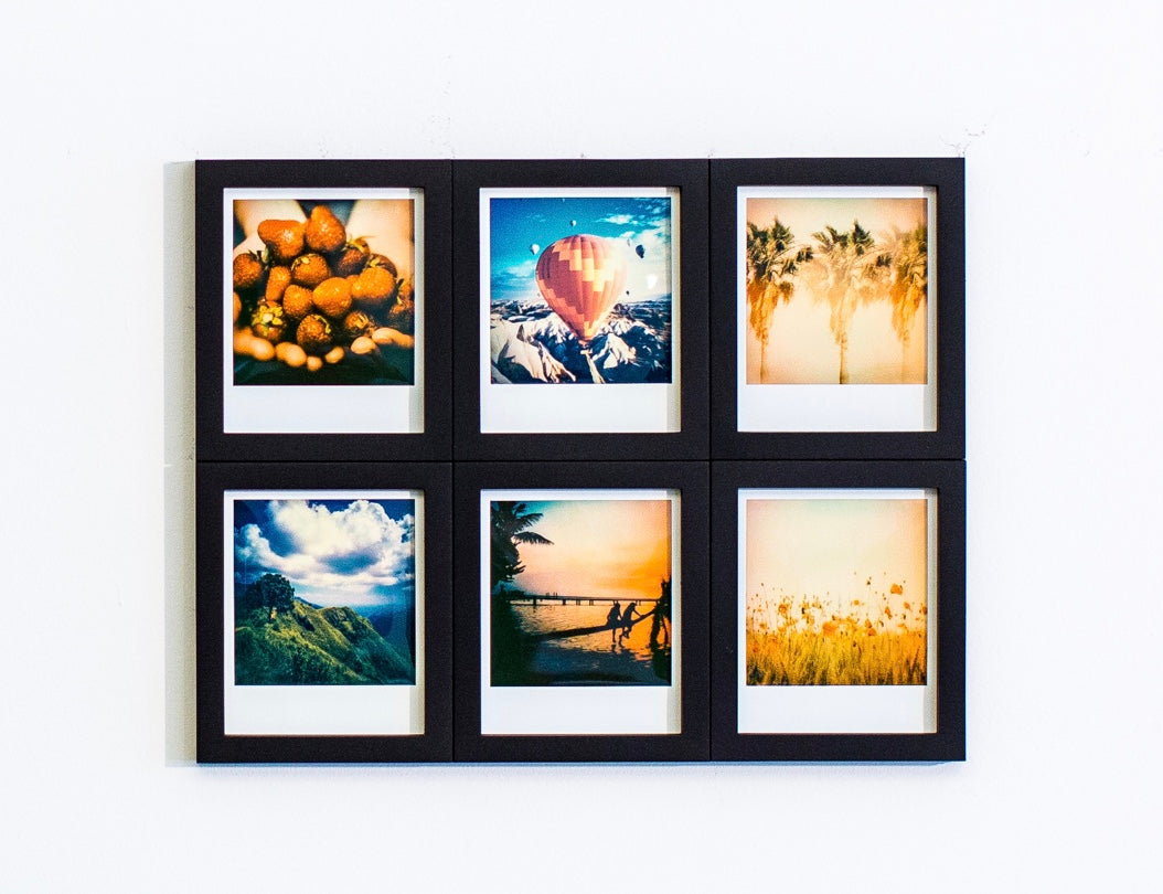 magnaframe - polaroid originals - 6-pack- black