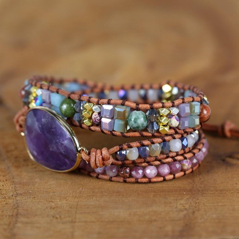 Healing Stone of Peace Wrap Bracelet