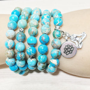 Healing Regalite Double Charmed Mala
