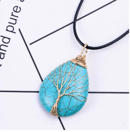 Healing Tree of Life Natural Healing Gemstones Pendant Necklace
