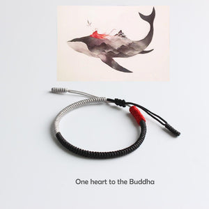Hand Made Knots One Heart To The Buddha Bracelet + 10% Donation