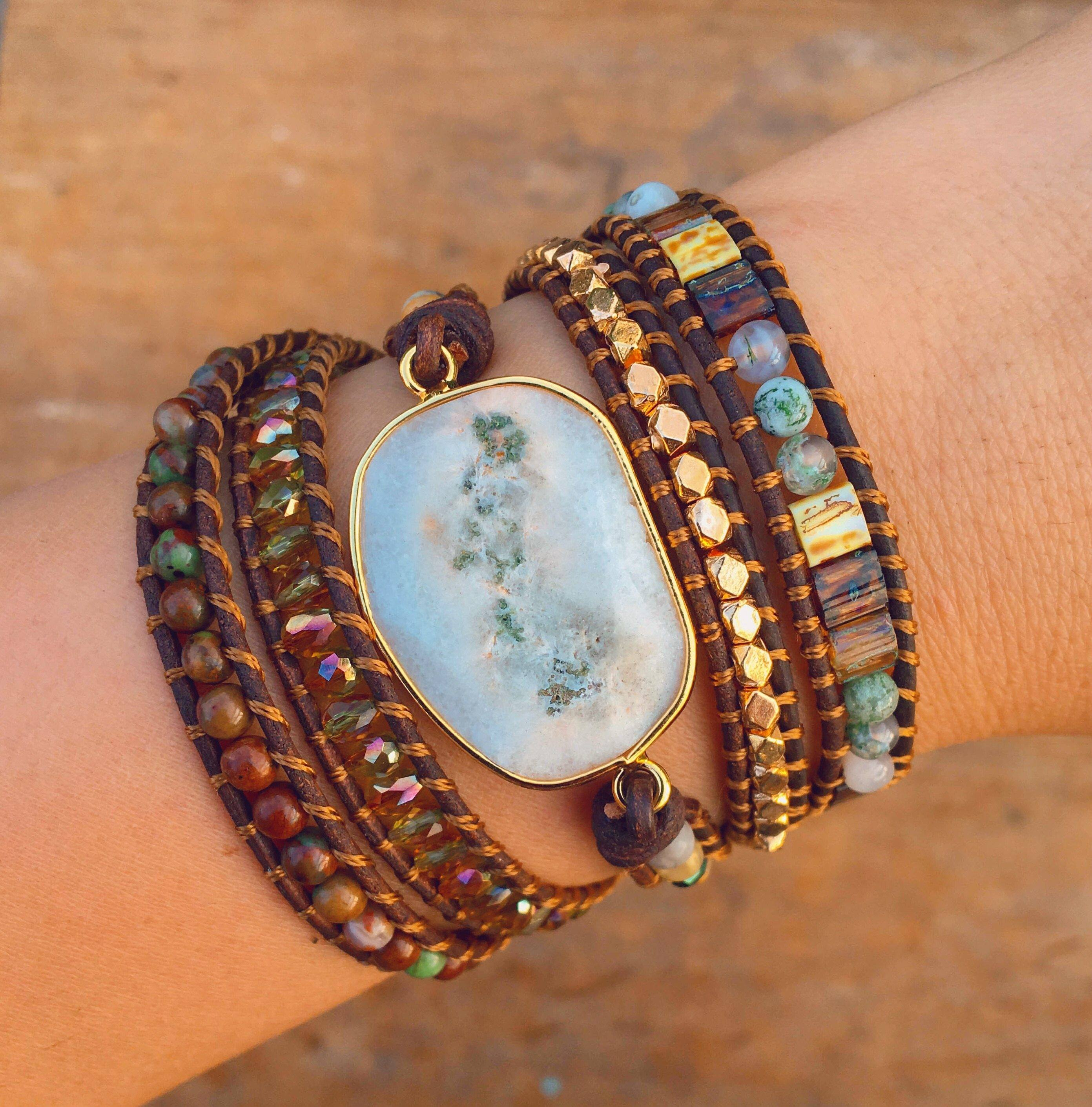 Healing Solar Quartz Protection Wrap Bracelet