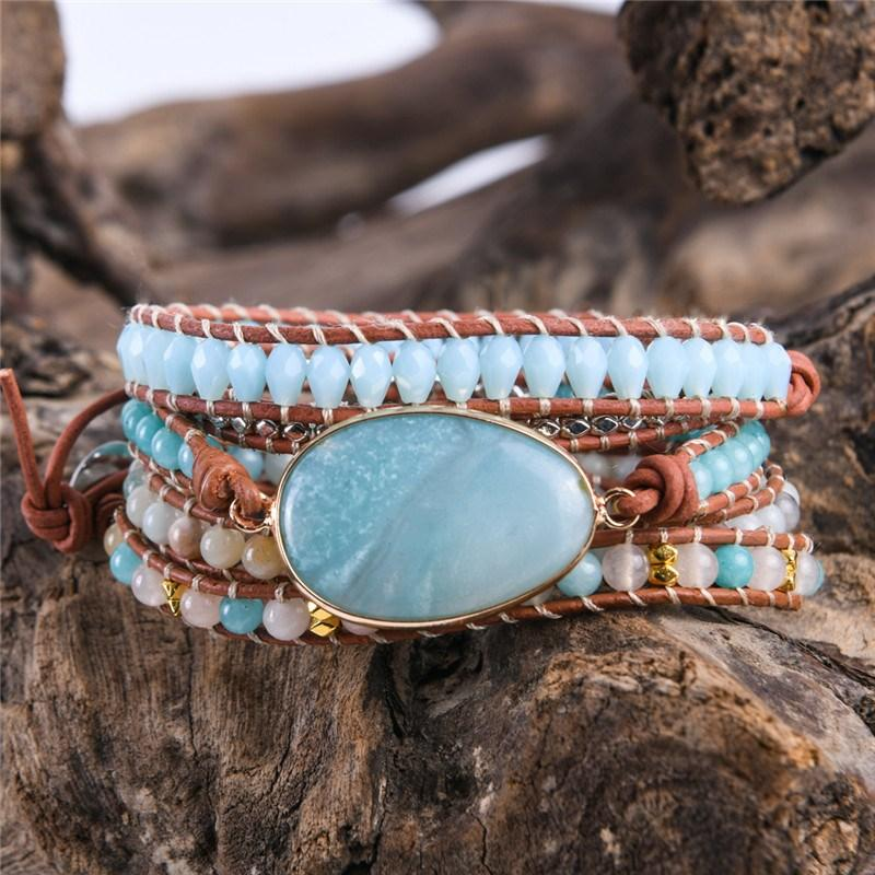 Healing Natural Amazonite Wrap Bracelet