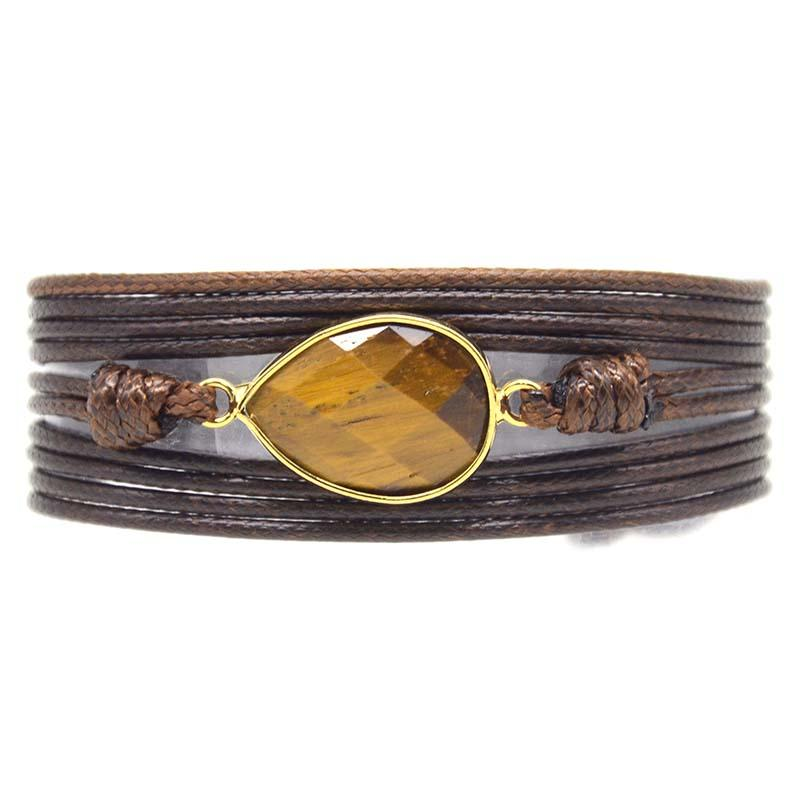 Tiger's Eye Brave and Gallant Wrap  Bracelet