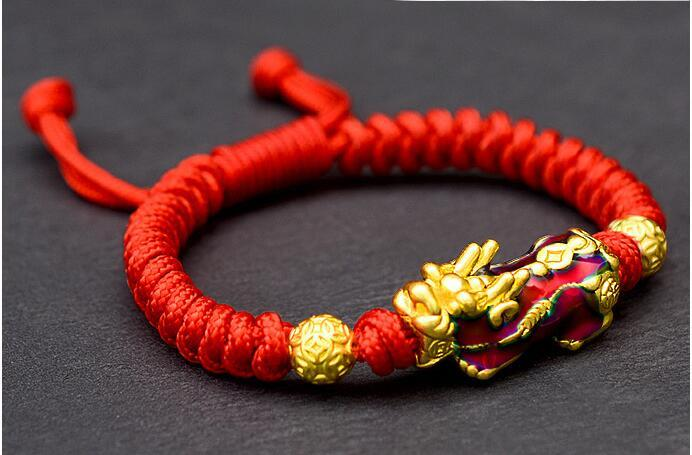 Lucky Pixiu Color Changing Rope Bracelet