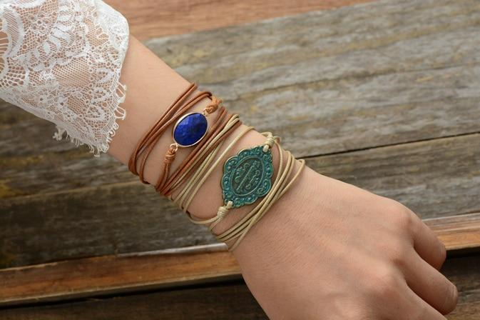 Enlightenment and Truth Lapis Lazuli Wrap Bracelet