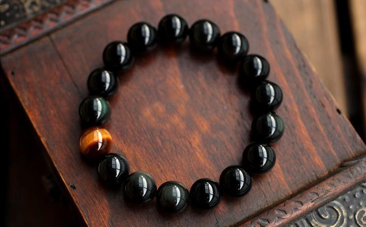 Healing Energy Bracelet Tiger Eye & Black Onyx (Limited Offer)