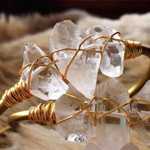 Healing Clear Quartz Bangle