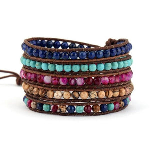 Natural Healing Mixed Stones Wrap Bracelet