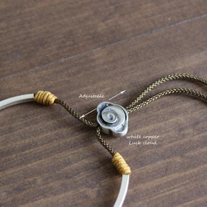 Tibetan Handmade Lucky Rope bracelet with Traditional Charm (Silver Bangle) +10% Donation