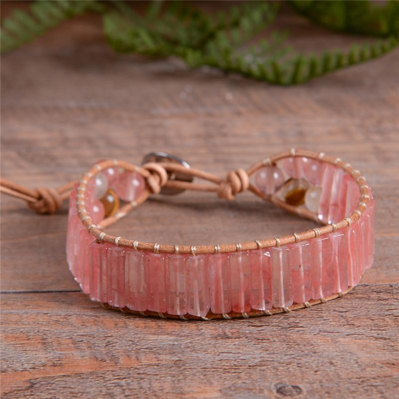 Healing Watermelon Red Agate Bracelet + 10% Donation