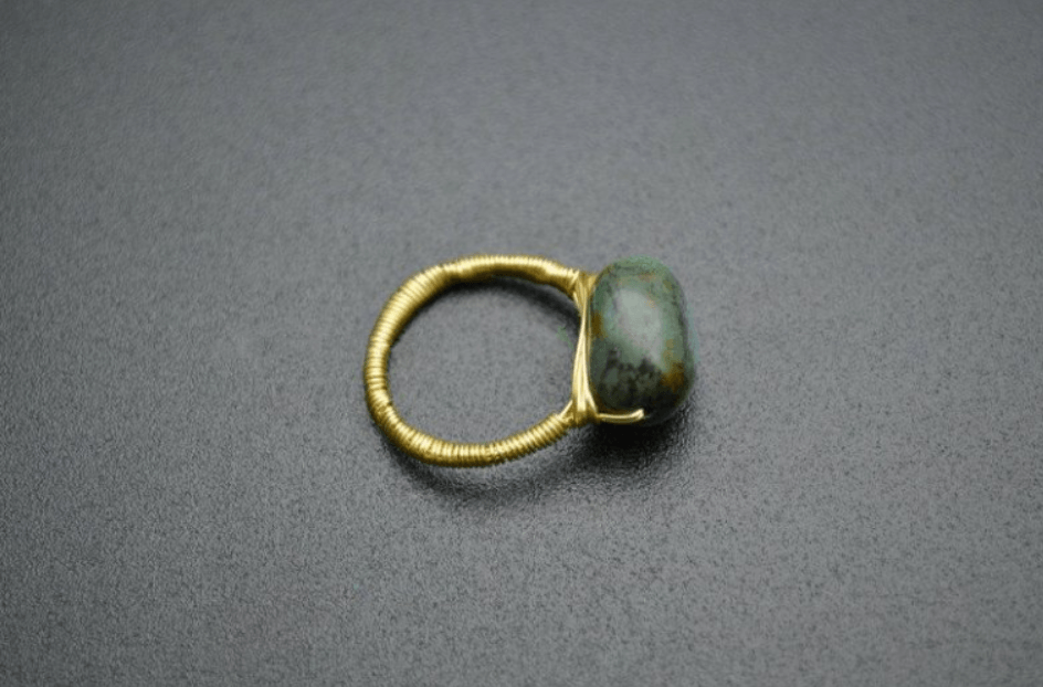 Healing & Calming Prehnite Green Nugget Stone Ring
