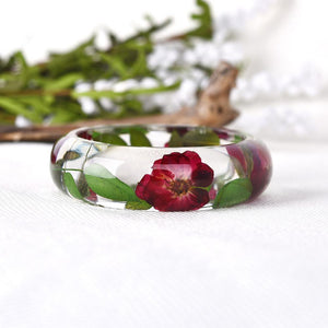 Eternal Spring Pink Flower Bangle + 10% Donation