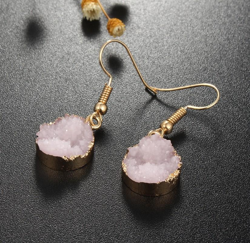 Healing Natural Druzy Geode Earrings