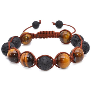 Powerful Tiger Eye and Lava Stone Bracelet (50% OFF) + 10% Donation