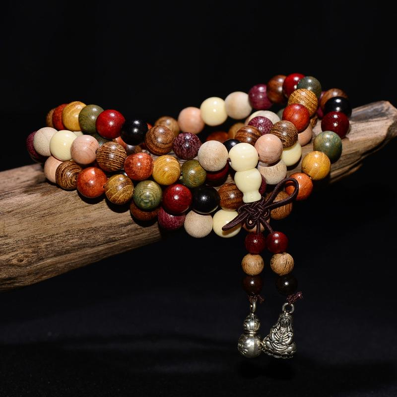 108 Sandalwood Tibetan Buddhist Prayer Beads Mala + 10% Donation
