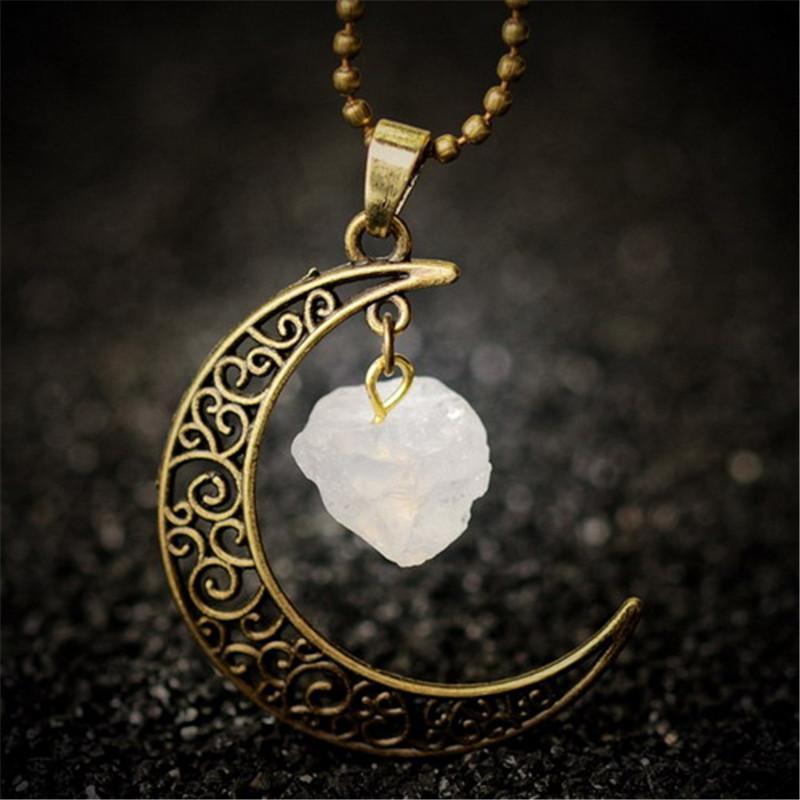 Protective Quartz Moon Necklace (Limited Offer) + 10% donation