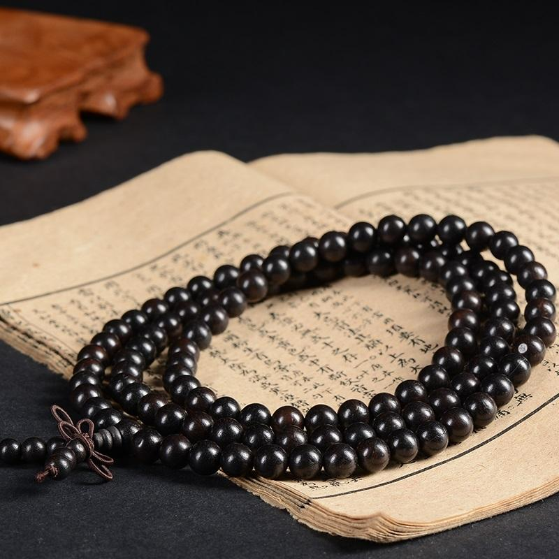 Natural Ebony Mala (Enlightenment)