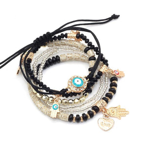 Hamsa Hand Pendant Bracelet (For Love and Protection)