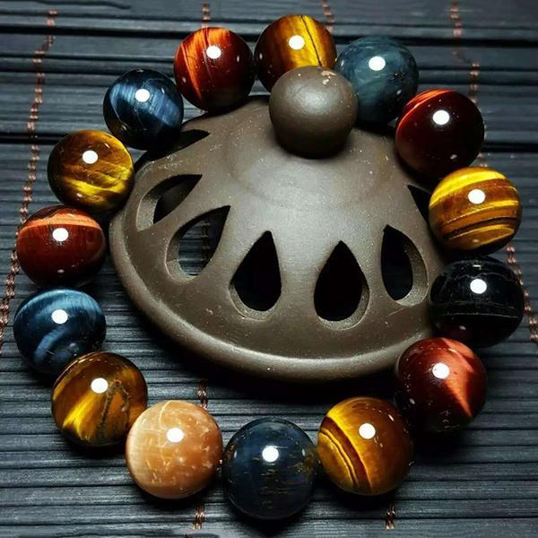 Healing Multi-Color Tiger Eye Stones Bracelet (Limited Offer) + 10% Donation