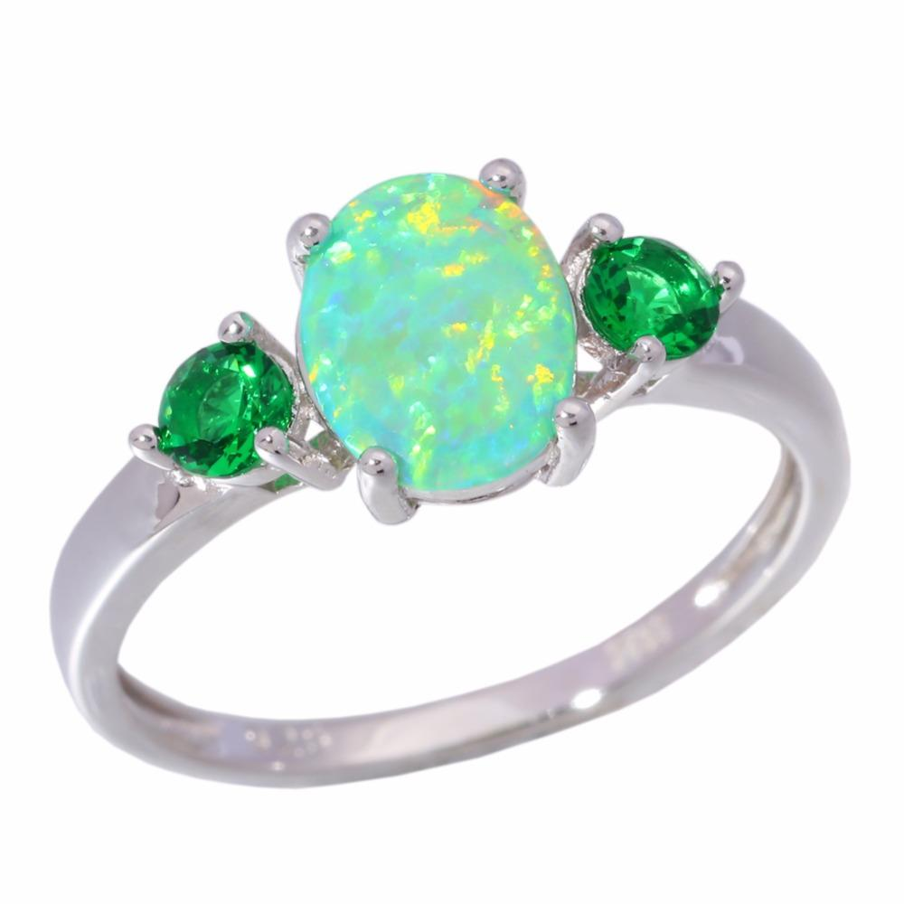 Green Fire Opal Green Quartz Ring