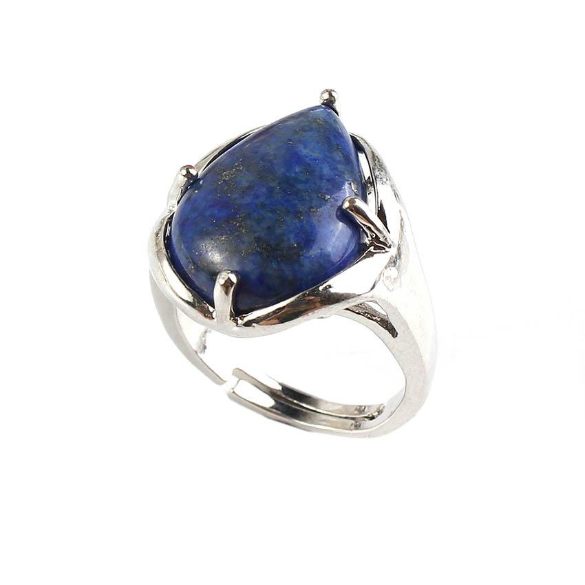 Water Drop Resizable Lapis Lazuli Ring