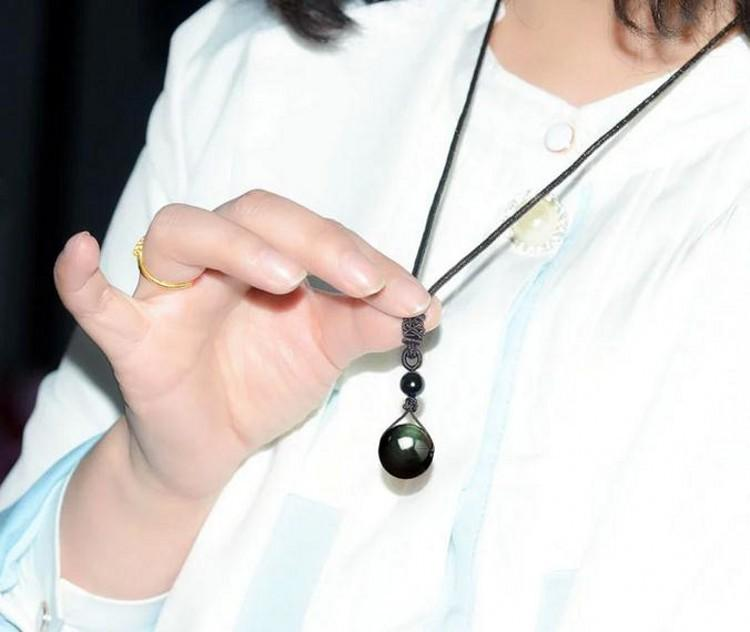 Healing Obsidian Rainbow Eye Pendant Necklace (Limited Offer) + 10% Donation