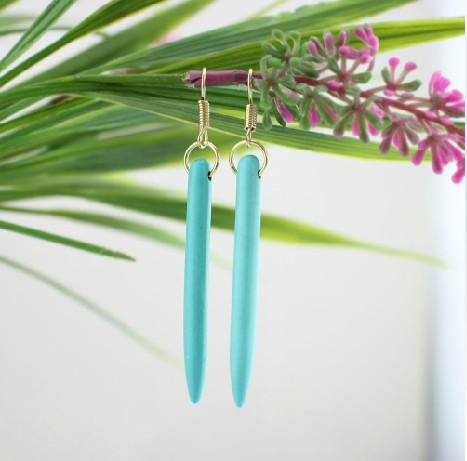 Spike Turquoise Earrings For Protection