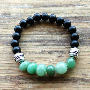 Lucky Black Obsidian and Mixed Gemstone Bracelet
