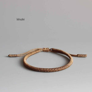 Hand Made Knots Lucky Rope Bracelet (Wisdom) (New) + 10% Donation