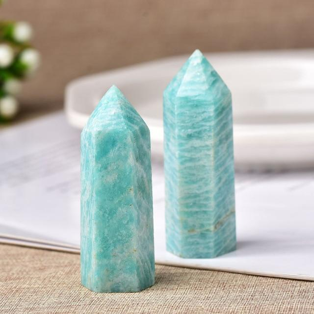 Healing Natural Amazonite Crystal Wand