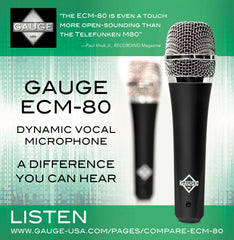 ECM-80 Dynamic Vocal Microphone