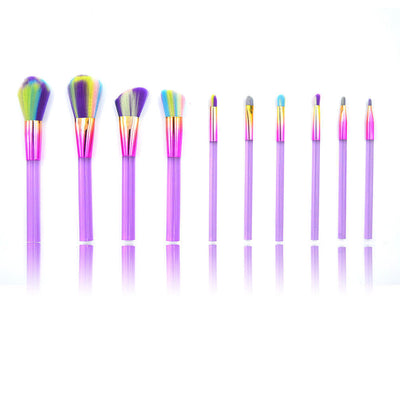 10 Piece - Makeup Rainbow Kabuki Spectrum Set