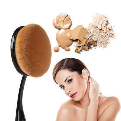 10 Piece Professional Oval Contour Puff Brush Set