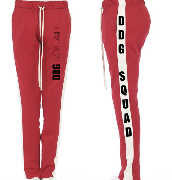 DDG Squad Red and White Joggers